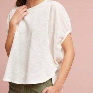 Eri + Ali anthropologie balloon sleeve briony top